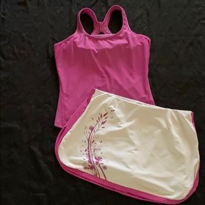 Nike Fit Dry Set tank top and skirt shorts